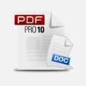 icon of a pdf file made from a Word document using PDF Reader 10
